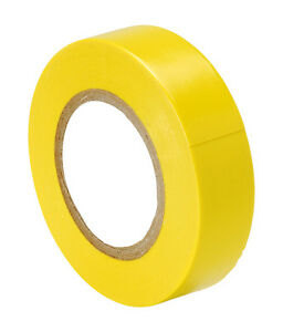 YELLOW PVC Tape Electrical Insulation/Spo<wbr/>rts Racket &amp; Socks 16.5M