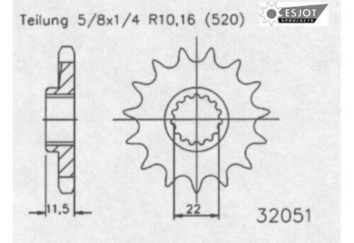Esjot Motor Ritzel 14 Zähne passend für KTM LC4 ab Bj.90- Husqvarna 701 ab 16