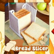 Bread Slice Toast Slicer Guide Cutter Slicing Cutting Sheet Kitchen Tool White