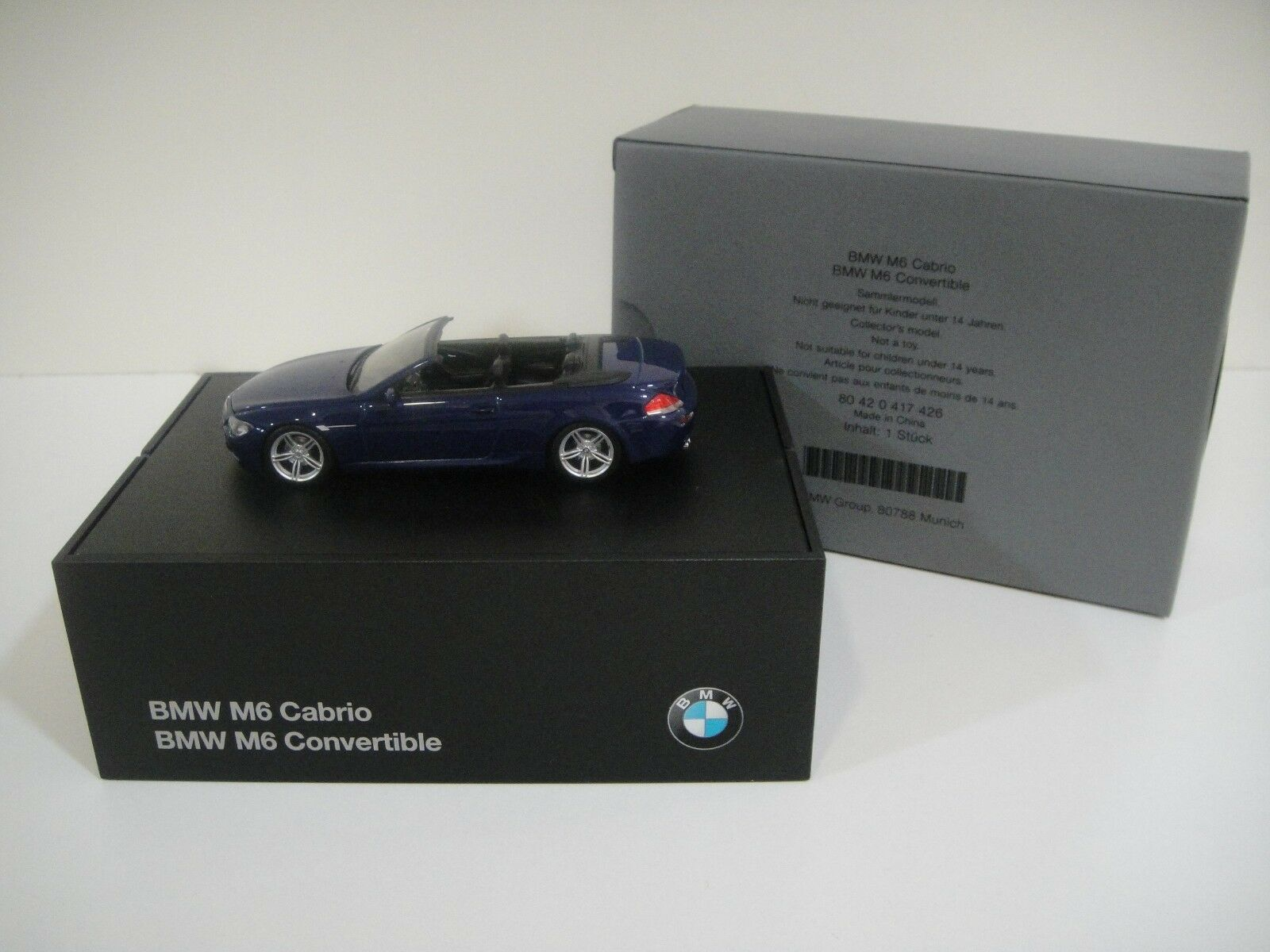 1 43 MINICHAMPS. BMW  M6 Cabriolet SPECIAL EDITION BY BMW