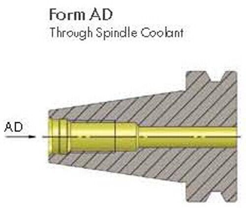 BT30 20mm End Mill Holder Balanced G2.5 @ 20,000 RPM Form AD Coolant Thru