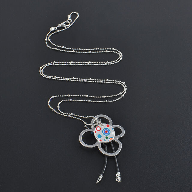 Best Gift Fashion Women Crystal Heart Key Pendant Long Sweater Chain Necklace