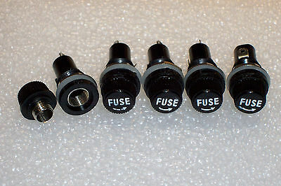 5pcs Fuse Holder Panel Mount for 6x30 Fuses Audio Guitar Tube Amp 10A//250V
