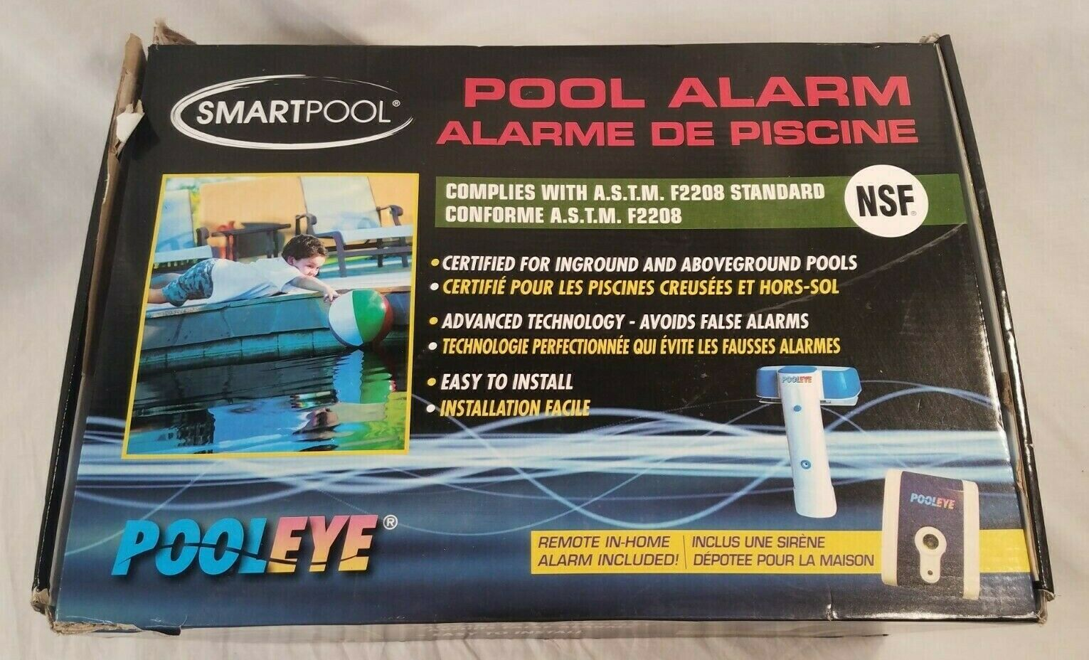 Immersion Piscines Et Spas smartpool pe23 pooleye ag/ig immersion alarm with remote receiver astm  compliant