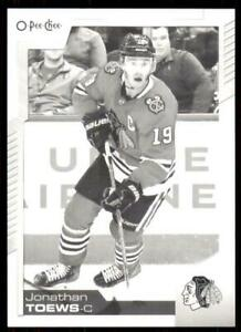 2020-21-UD-O-Pee-Chee-Base-Black-amp-White-191-Jonathan-Toews-Chicago-Blackhawks