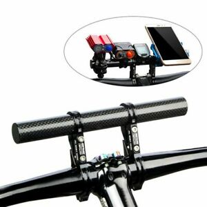 Lamp Mount Bike Handlebar Extender Double Tube Bracket Aluminum Alloy Fiber