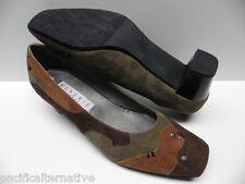 Chaussures MONDRIE delphe vert marron FEMME taille 41 escarpins  -Modèle d'Expo-