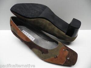 Chaussures-MONDRIE-delphe-vert-marron-FEMME-taille-41-escarpins-Modele-d-039-Expo