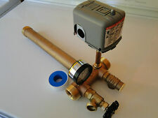 NO LEAD BRASS 1 x 11 Tank Tee Installation KIT Water Well Pressure SQUARE-D 3050
