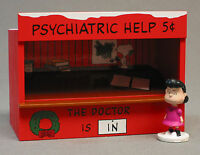 Lionel Peanuts Psychiatric Booth W Lucy Figure Train Illuminated People 6-37169