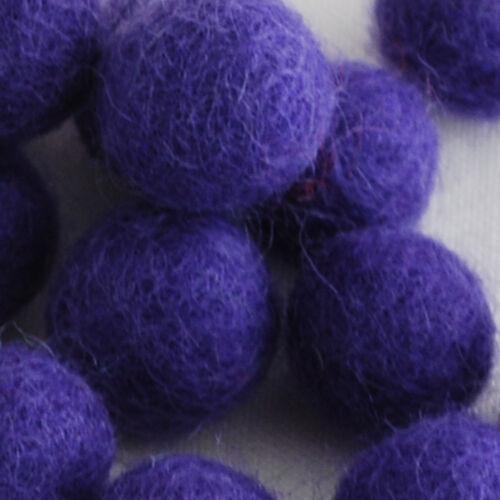 100/% fieltro de lana Bolas 100 Count-Morado 1 Cm 1,5 Cm 2 Cm 2,5 Cm 3 Cm