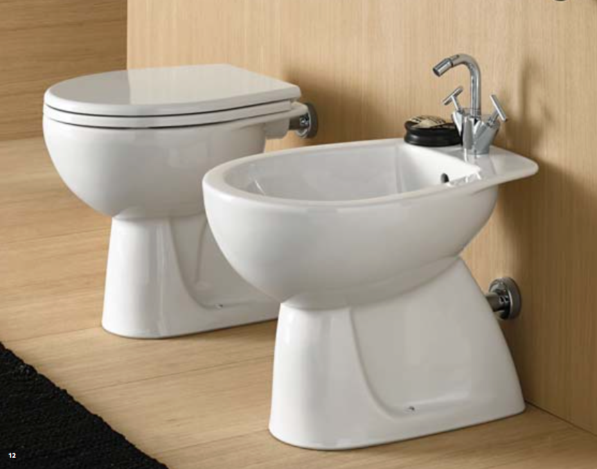 Sanitari bagno Pozzi Ginori Colibri 02 vaso bidet classica e sedile da appoggio classica bidet 123137