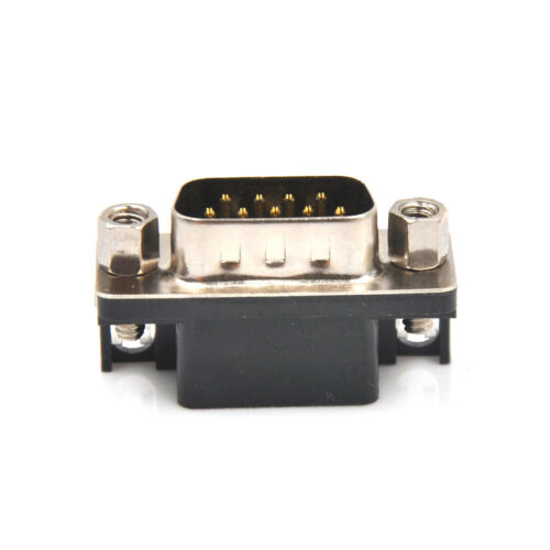 1Pair RS232 DB9 DR9 Male 9-pin Serial Port 9-pin Female Connector Curved BH