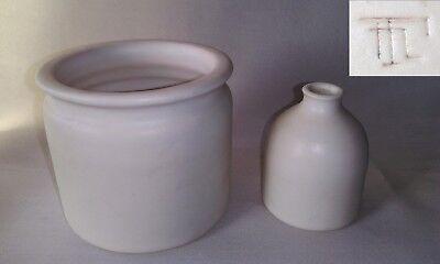 2 Vases En Faience Blanche Laiteuse Signature à Identifier ? Tn Alta Calidad Y Gastos Indirectos Bajos