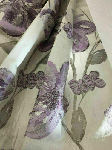 Belfield Chelsea Violet Lilas Motif Floral Rideau Tissu Matériau 155 cm large