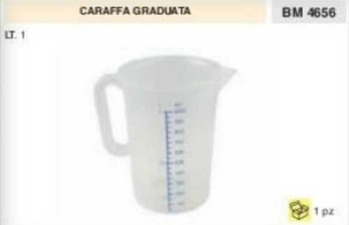 CARAFFA GRADUATA bicchiere tanica miscela olio lubrificante recipiente 1 LT