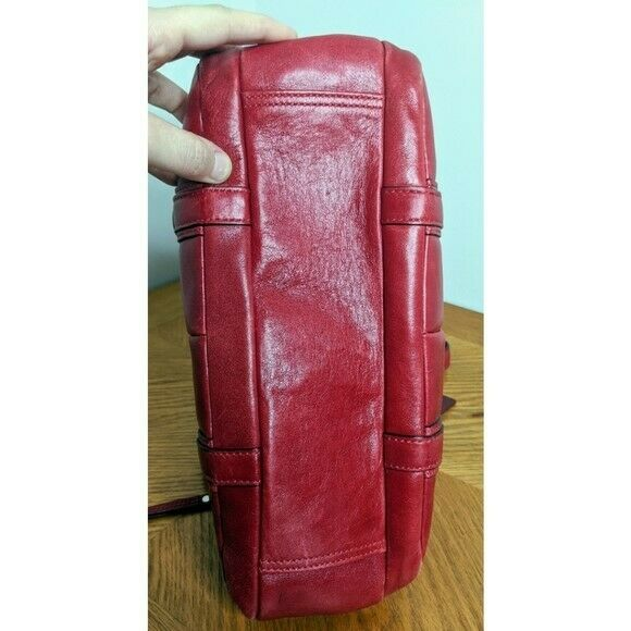 Coach Red Leather Bonnie Satchel Preowned - image 3