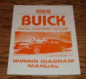 Wondrous 1969 Buick Special Gran Sport Skylark Wiring Diagram Manual 69 Ebay Wiring Digital Resources Xeirawoestevosnl