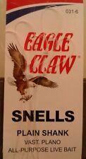 Eagle Claw 031H-6 Snelled Hooks 6pk Size 6 Bronze Classic Plain Shank        D14