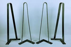 Flat Bar Hairpin Legs, Multiple Sizes, Set of Four, 1 1/2 Flat Bar, USA Made