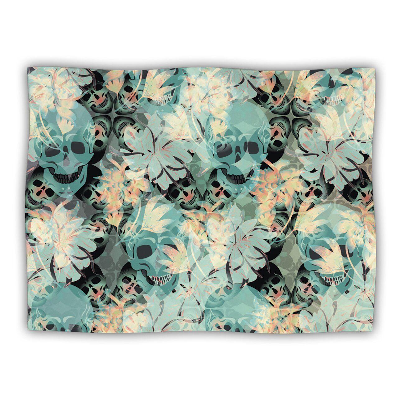 Kess InHouse Akwaflorell  Dead's Head Party  Dog Blanket, 60 by 50-Inch