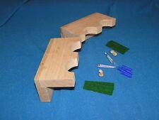 Pair of 2 gun wood closet gun rack - solid oak construction