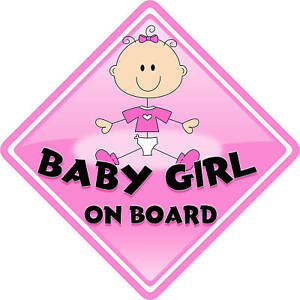 Cheeky Monkey Pink//Black Child//Baby On Board Car Sign