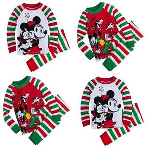 46f8a80e9 Disney Store Mickey & Friends Goofy Minnie Mouse Figaro Holiday PJs ...