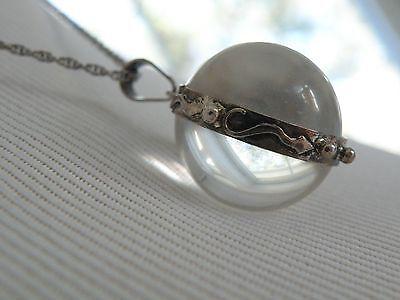 Pools of light collection on ebay vintage sterling silver rock crystal quartz pool of light ball pendant necklace aloadofball Images