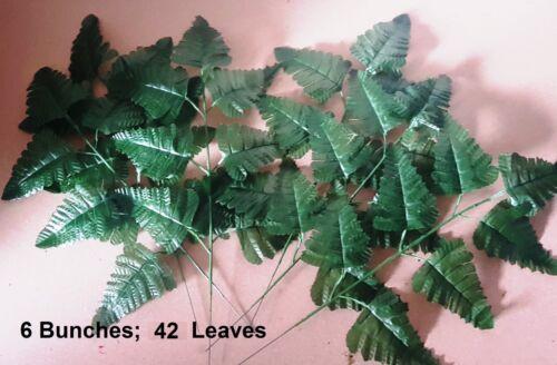 Ivy Leaf Rose Foliage Plant Artificial Leaves Vine LEATHER FERN LEAF 35cm Green