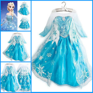 Frozen Princess Elsa School Party Costume Dress Girls Dresses SIZE ...