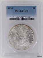 1885 Morgan Silver Dollar $1 PCGS MS63