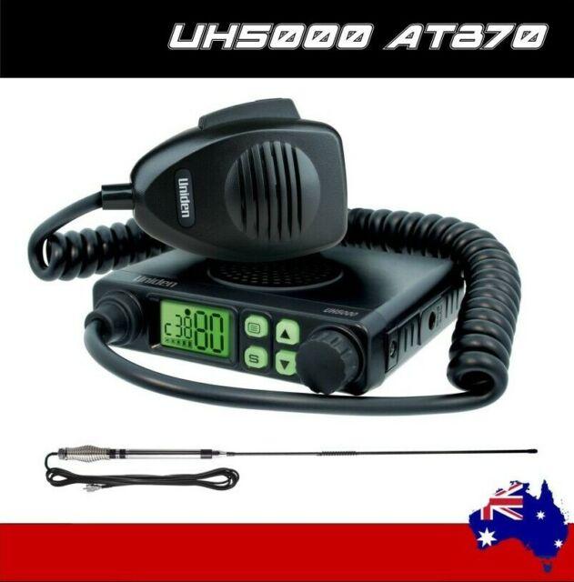 UNIDEN UH5000NB 5W VEHICLE+AT870 UHF ANTENNA 80 CHANNEL UHF RADIO PACK