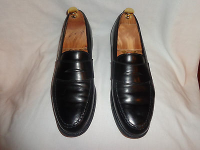 Brooks Brothers Black Leather penny loafers 9.5 D Made in England