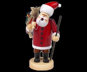 Räuchermann Räucherfigur Weihnachtsmann Santa 56 cm farbig bemalt 40019