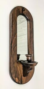 Antique-Kennedy-Brothers-Vermont-wood-wall-hanging-mirror-sconce-candle-holder
