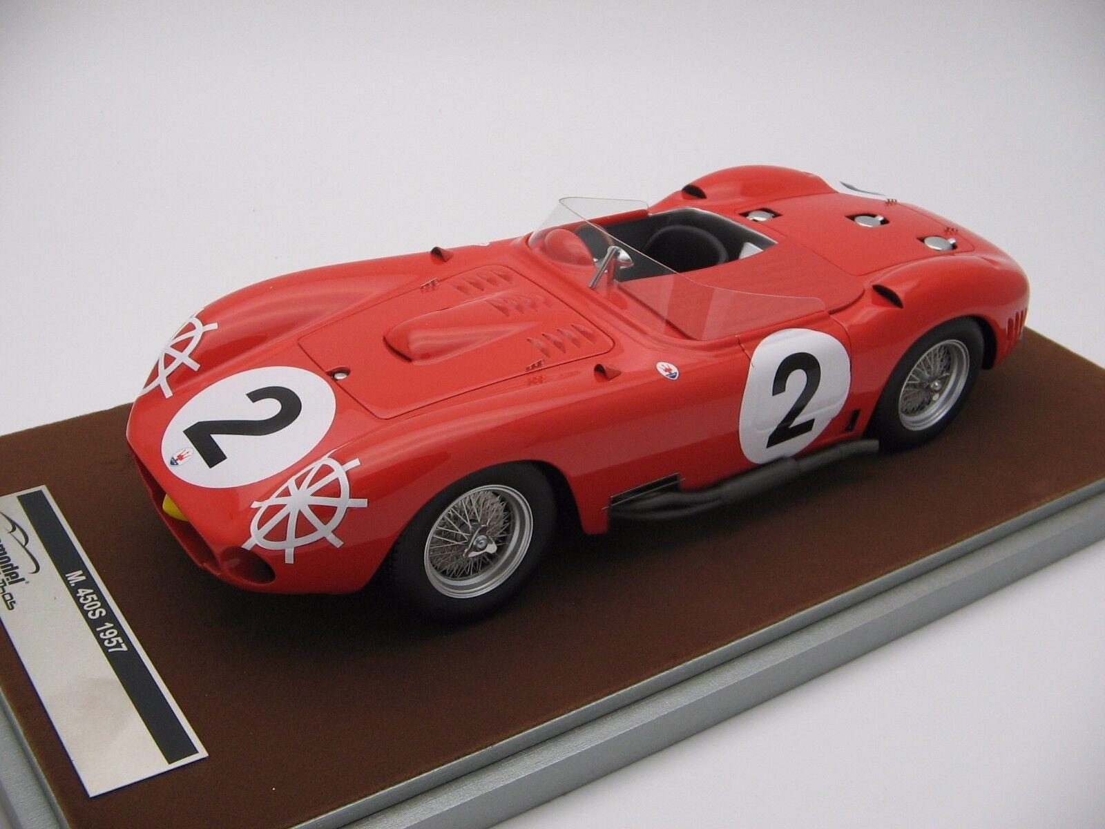 1 18 scale Tecnomodel Maserati 450S Le Uomo 24h 1957 - TM18-45A