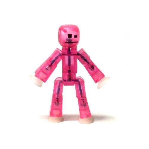 """Zing Stikbot Robot Pink Animal ANIMATION Single Stik Pet 3/"""" Figure toy gift"""