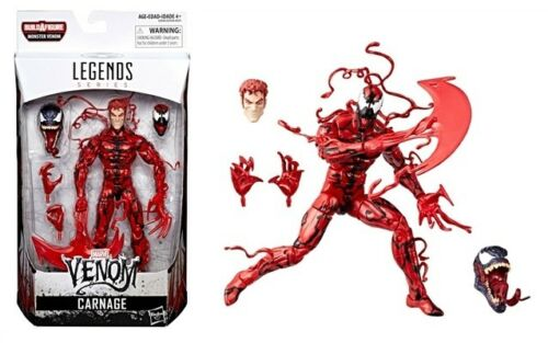 "HASBRO MARVEL LEGENDS VENOM 6/"" INCH ACTION FIGURE 6+1 BAF SET"