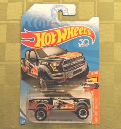2018 HOT WHEELS '17 Ford F-150 Raptor Pickup 6/10 [Black] HW HOT TRUCKS 348/365