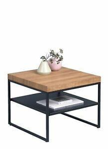 Details Zu Wohnzimmertisch Beistelltisch Tisch Konsole Vista Klein 50x40x50cm Eiche Metall