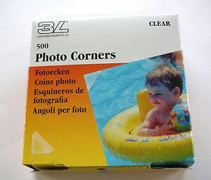 500-PRO-TRANSPARENT-CLEAR-PHOTO-CORNERS-ACID-FREE-SELF-ADHESIVE-HIGH-QUALTY