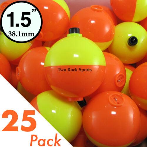"""3-250 Bulk Pack ORANGE /& YELLOW 1.5/"""" inch 38mm ROUND Fishing Bobbers Floats"""
