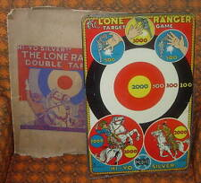 MARX  THE LONE RANGER  DOUBLE TARGET GAME  WITH GRAPHIC BOX  1939