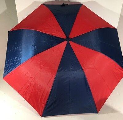 Devoto Grande 87.6cm Doppio Pieghevole Pioggia Anti Vento Rossi Blu Ombrello Scelta Materiali
