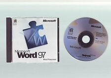 MICROSOFT WORD 97 UPGRADE - OFFICE WORD PROCESSOR - ORIGINAL & GENUINE - VGC