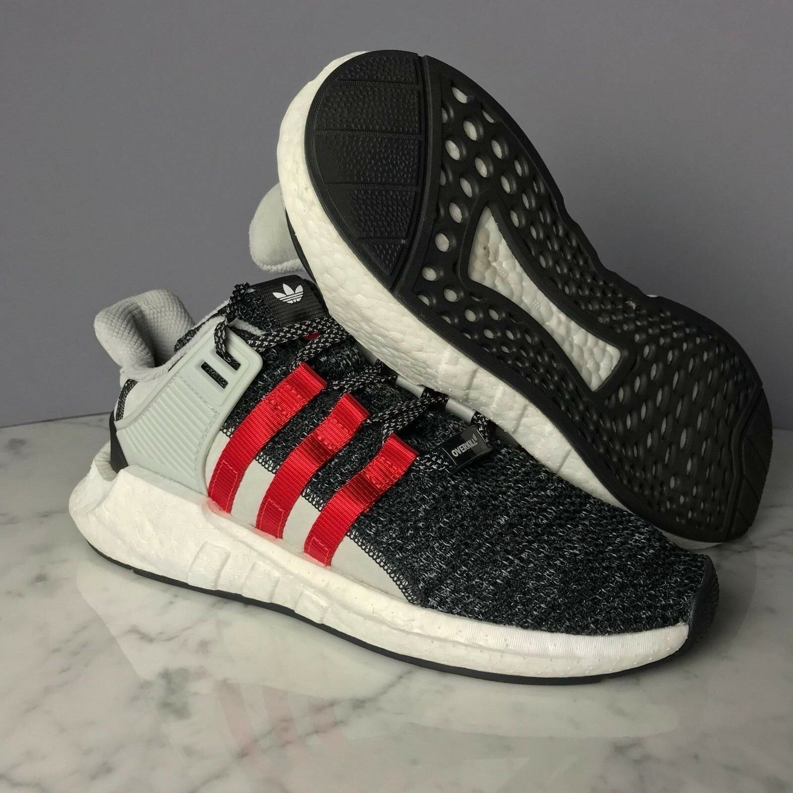 Adidas OVERKILL x EQT SUPPORT FUTURE - BLACK GREY RED - BY2913