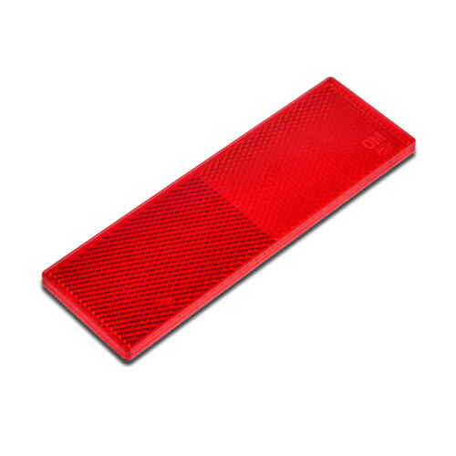 1pc Car Red Warning Reflective Safety Plate Tape Reflector Sticker Self-adhesive