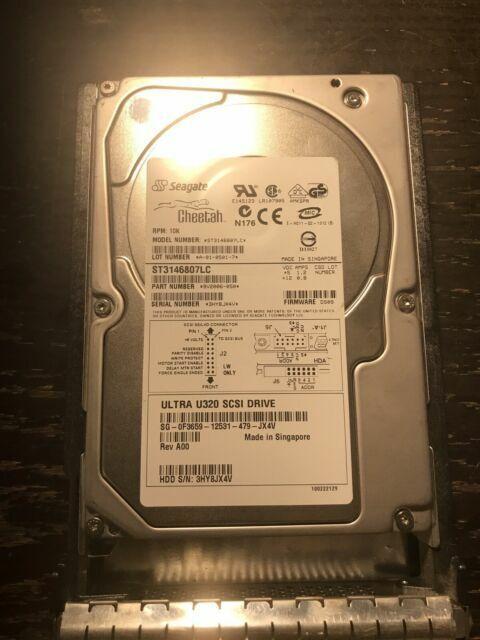 """SEAGATE CHEETAH ST3146807LC 10K RPM 3.5/"""" 146GB ULTRA U320 SCSI HARD DRIVE"""