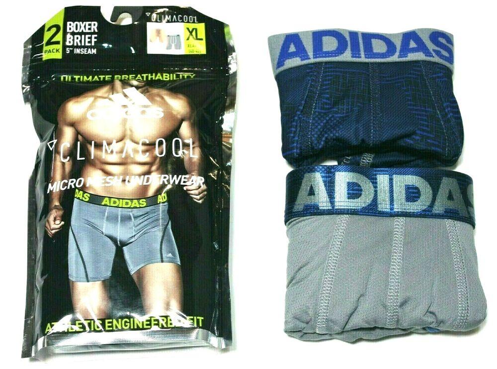 Actif Adidas Climacool 2-pack Sport Performance Camouflage Bleu/gris Boxer Slip Nous Prenons Les Clients Comme Nos Dieux